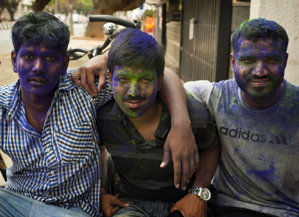 Holi in the Streets of Bangalore