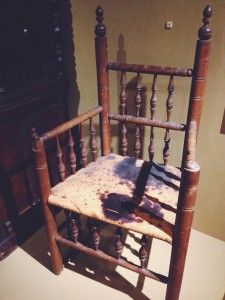 Governor Bradford's chair in the Plymouth Museum