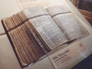 The Bible William Bradford carried with him from England.